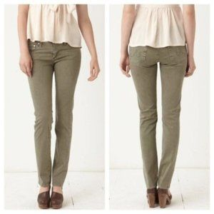 5/$25 AG The Edie mid rise skinny straight jeans